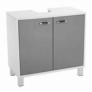 Meuble Dessous De Lavabo : meuble dessous lavabo dinamo gris meuble de salle de bain eminza ~ Melissatoandfro.com Idées de Décoration