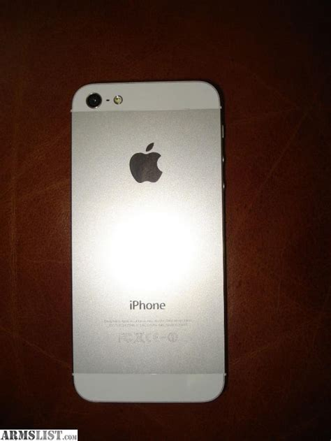 iphone 5 silver armslist for trade apple iphone 5 white silver