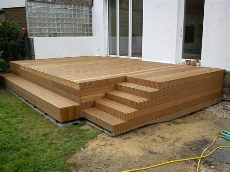Terrasse Mit Stufen Zum Garten by Holzterrasse Mit Stufen Drau 223 En Holzterrasse