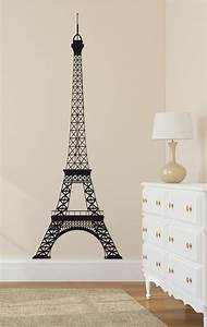 eiffel tower wall decal paris wall decal wall by With eiffel tower decor for bedroom