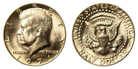 kennedy half dollar 1971 d kennedy half dollars clad composition value and prices