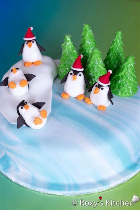 winter holidays cake decorated  fondant
