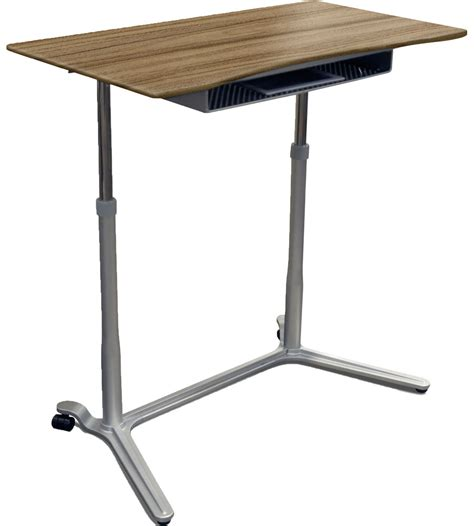 Adjustable Standing Desk In Computer And Laptop Carts