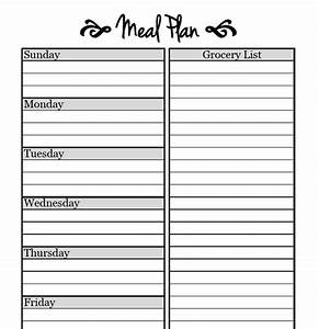 Printable meal planning templates to simplify your life for Two week meal plan template