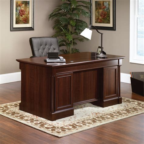 sauder palladia writing desk palladia executive desk traditional desks and hutches
