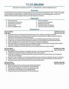 casi security guard resume examples essay writing the With security guard resume template for free
