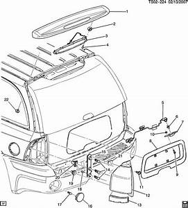 2002 Gmc Envoy Liftgate Parts Diagram  Parts  Auto Wiring Diagram