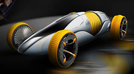 """Mutation Futuristic Car Concept With """"wrinkle"""" Material"""