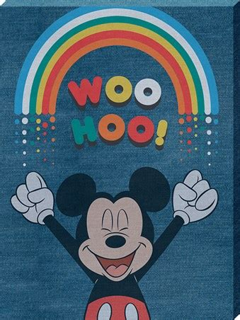 woo hoo denim mickey mouse large canvas buy
