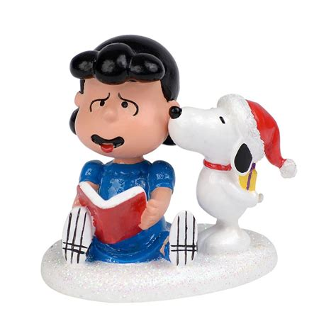 department 56 peanuts village snoopy kisses lucy christmas