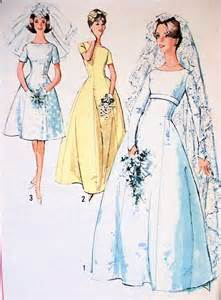 1960s Lovely Princess Line Wedding Gown Bridal Dress Pattern Simplicity 5496 Three Style Versions Vintage Sewing Pattern