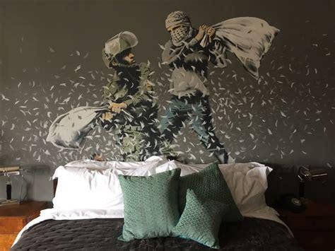 banksy puts mark  bethlehem hotel  worst view