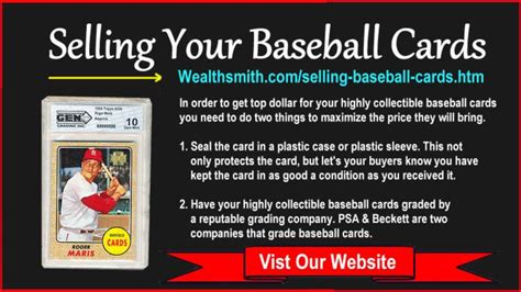 May 06, 2021 · rare cards sell, of course, for much more than the others. How to Sell My Baseball Card Collection - Sell Your ...