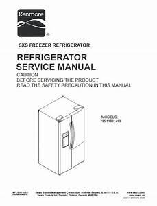 Kenmore 795 51832 51833 51839 Refrigerator Service Manual