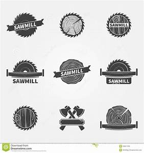 Sawmill Logo Or Label Stock Vector - Image: 55857459