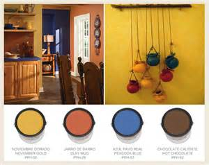 kitchen wall paint colors ideas colorfully behr hacienda style