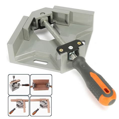 degree corner clamp  angle clamp aluminum alloy woodworking clamping picture frame