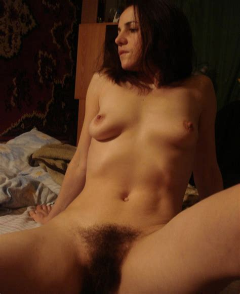 Lovely Amateur Milf With Small Tits And Very Hairy Pussy