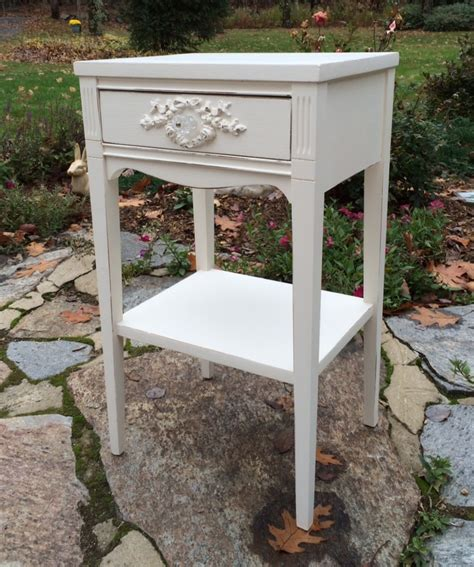 white shabby chic nightstands vintage painted white shabby chic nightstand