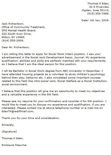 Field Placement Cover Letter by Cover Letter For Social Work Field Placement Cover Letter