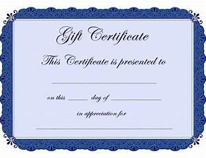 Blank Certificate Template Clipart Best