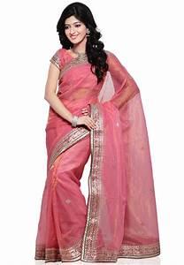 Embroidered Pure Kota Tissue Saree In Pink   Sjn4693