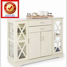 Buffet Kitchen Dining Room Storage China Cabinet Colonial