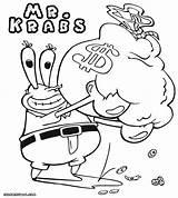 Coloring Mr Krabs Pages Printable Spongebob Patrick Money Bag Coloringway Template Sketch Credit Larger Rapunzel sketch template