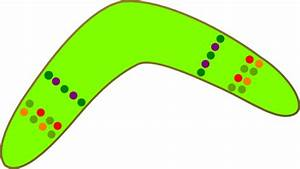 australian boomerang clip art at clkercom vector clip With australian boomerang template
