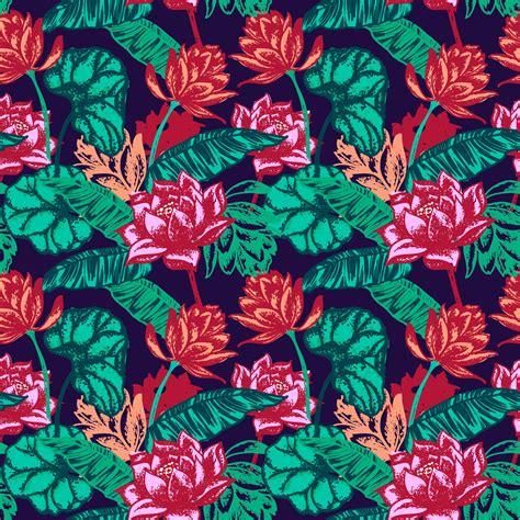 seamless floral pattern photoshop vectors brushloverscom