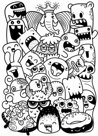 Doodle Monster Drawings Monsters Doodles Drawing Cartoon