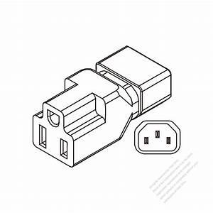 Adapter Plug  Iec 320 Sheet E Inlet To Nema 5