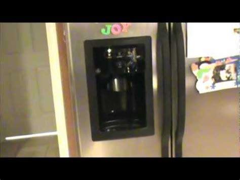 fix ge refrigerator frozen dispenser  water   water ge repair waterline water tap
