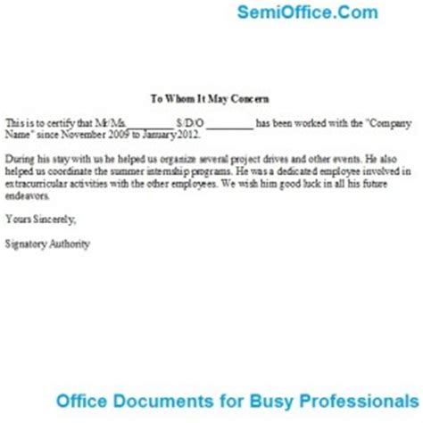 work experience letter  administrator