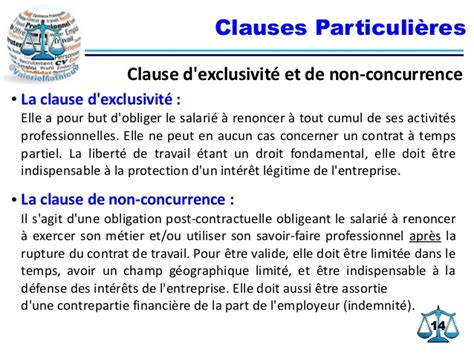 clause de non concurrence exemple exemple modele clause d exclusivite