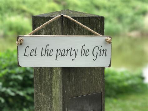 party  gin  rope hanging signs alcohol