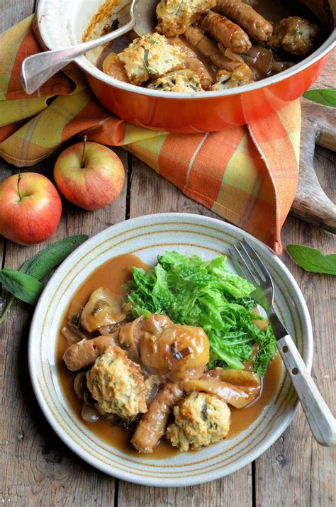 dumplings apple sausage recipe casserole recipes cooker slow greatbritishchefs british herb
