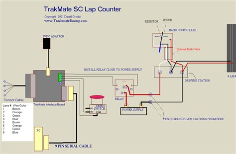 Slot Car Track Wiring Diagram by Trackmate Timing Infrared Home Racing World The