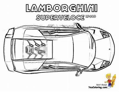 Lamborghini Coloring Murcielago Cars Superveloce Pages Colouring