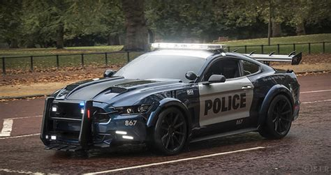 ford mustang police car transformers filming flickr