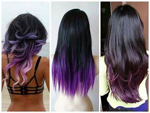 Purple Ombre with Layers and Lavender Ombre | Hairstyle ideas