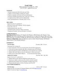 Entry Level Chronological Resume Samples