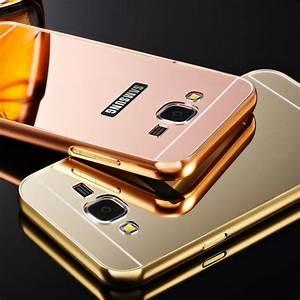 Para Samsung Galaxy J5 / J7 caixa de alta qualidade espelho acrílico flexível Acessórios