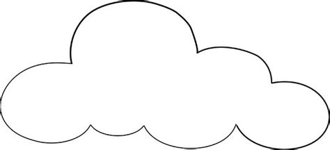 thinking cloud writing template clouds outline coloring page netart