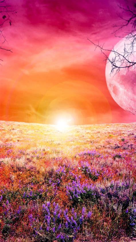 colorful full moon  ultra hd wallpaper  wallpapernet
