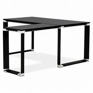 Bureau But Noir : bureau d 39 angle design hovik bois noir ~ Teatrodelosmanantiales.com Idées de Décoration