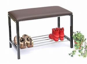 Schuhregal Mit Bank : schuhregal mit sitzbank bank 70cm schuhschrank aus metall schuhablage kaufen bei ~ Whattoseeinmadrid.com Haus und Dekorationen