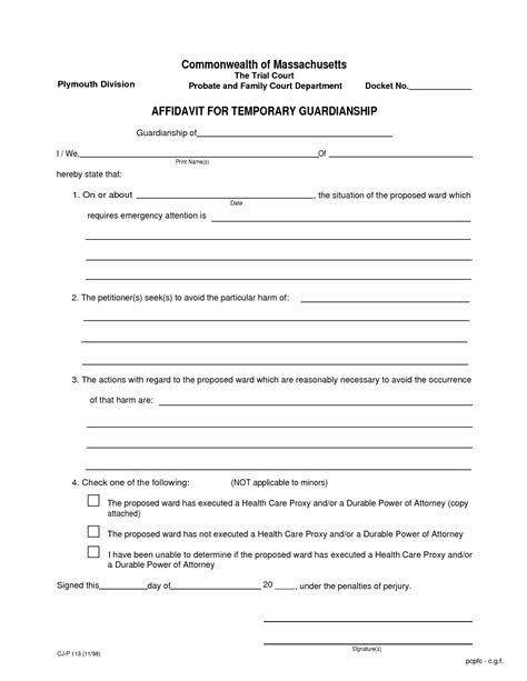 temporary custody agreement for grandparents
