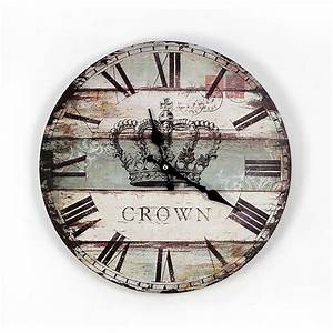 London style vintage wooden wall clocks modern design slap