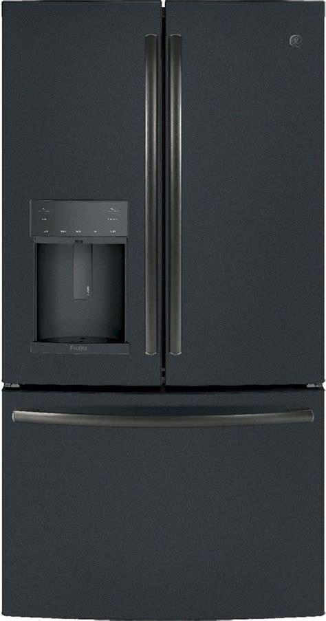ge profile  cu ft black slate counter depth french door refrigerator pyekelds